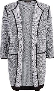 Check Knitted Jacket, Black