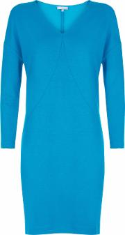Jersey Curved Seam Dress, Blue