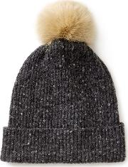 Harris Donegal Pom Hat, Grey