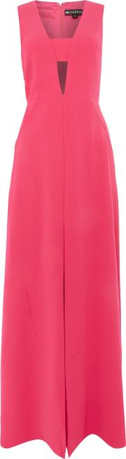 Sleeveless V Neck Cut Out Gown, Rose