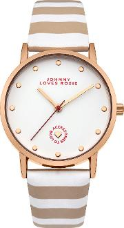Ladies Strap Watch, Nude