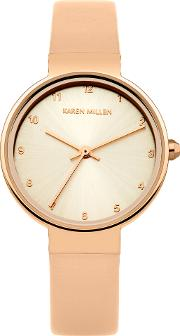 Ladies Nude Strap Watch, Cream