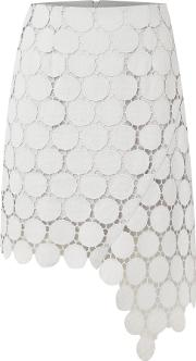 Spectrum Lace Mini Skirt, Grey