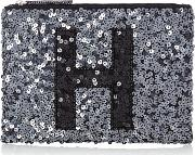 Initial Pouch H, Pewter