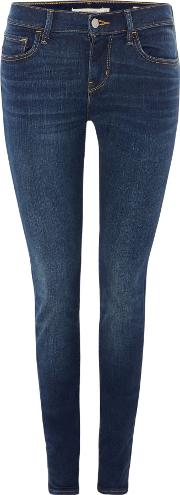 710 Super Skinny Jeans In Reign Or Shine, Denim Dark Wash