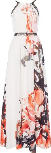 Long Sleeved Printed Maxi, Multi Coloured
