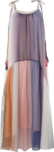 Sleeveless Overlay Midi Dress, Multi Coloured