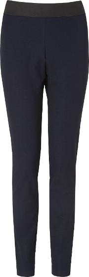 L.k. Bennett Adelle Skinny Fit Trousers, Blue