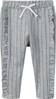 Baby Stripy Jogging Trousers, Grey