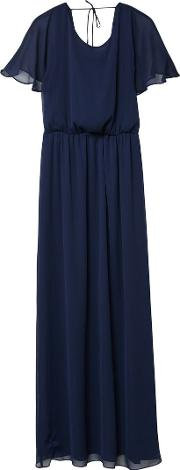 Double Layer Long Dress, Blue