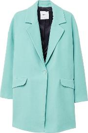 Texturised Unstructured Coat, Green
