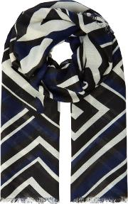 Rocca Abstract Print Scarf, Blue