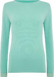 Timor Cashmere Crew Neck Jumper, Water