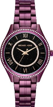 Mk3724 Ladies Lauryn Watch, Plum
