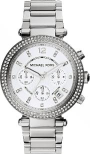Mk5353 Ladies Bracelet Watch, Silver Metallic