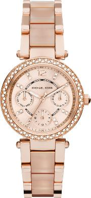 Mk6110 Ladies Bracelet Watch, Rose Gold