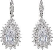 Oval Stone Marquise Drop Earring, Na