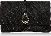 Verona Clutch, Black Gold