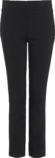 Pull On Ankle In Black Luxury Touch Denim, Black