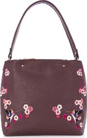 Embroidered Hobo, Red