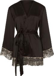 Amelia Embroidered Gown, Black