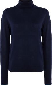 Roll Neck Jumper, Blue