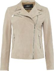 Suede Leather Jacket, Grey