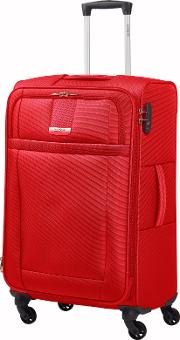 Askella Classic Red 4 Wheel Soft Larger Case, Red