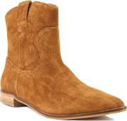 Bowroad Casual Western Ankle Boots, Brown