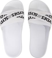 Malibu Cross Elastic Sliders, White