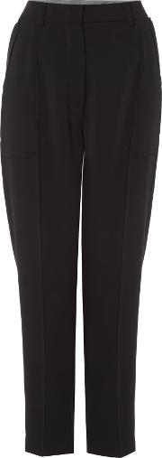 Relaxed Fit Trouser With Pocket Detail, Black