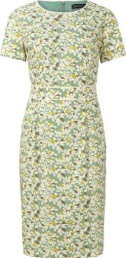 Ivana Shift Dress With Piping, Green