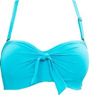 Solid Turquoise High Neck Swimsuit, Blue