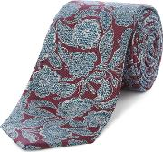 Maleny Detailed Floral Print Tie