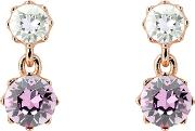 T14702434 Connolee Crown Earrings, Rose Gold