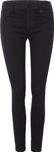 The Runway Legging Jean In Enzyme Rinse Black, Black