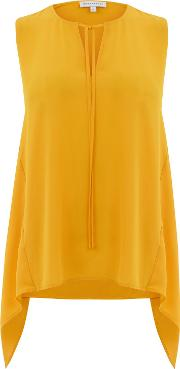 Hanky Hem Shell Top, Yellow