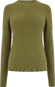 Scallop Stitch Jumper, Khaki