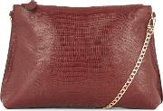 Warehouse Flat Chain Cross Body Bag, Berry