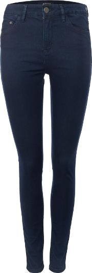 Asa Mid Rise Skinny Jean In Solid Navy, Navy