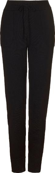Casual Luxe Lounge Pants, Black