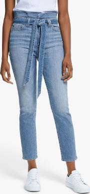 Roxanne Slim Illusion Cropped Paperbag Jeans