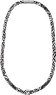 Fine Bead Pave Rope Necklace