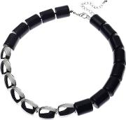 Oblong Bead Necklace