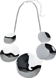 Polished Disc Statement Necklace