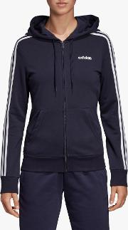 Essentials 3 Stripes Full Zip Training Hoodie