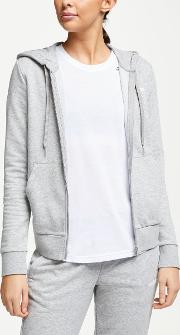 Essentials Solid Full Zip Hoodie