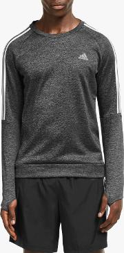 Own The Run 3 Stripes Running Sweatshirt