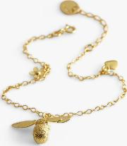 22ct Gold Plated Baby Bee Charm Bracelet