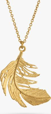 Big Single Feather Pendant Necklace